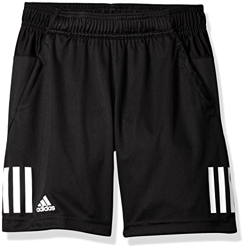 adidas Boys Tennis Club Shorts, Black/White, Medium