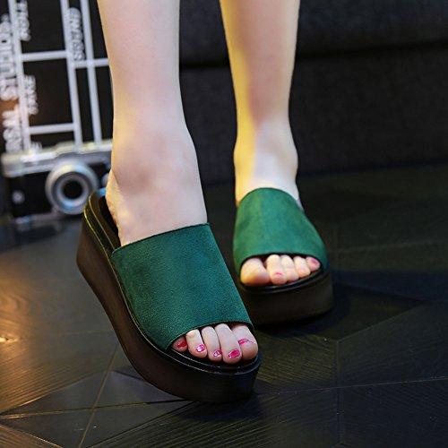 mode femmes ext plage 7cm Chaussons pour HAIZHEN chaussures Twq4ZP