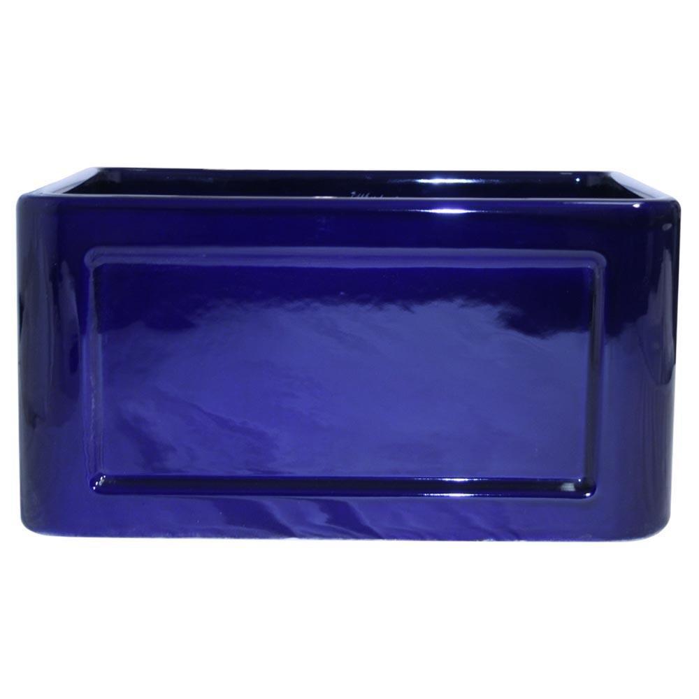 Reversible 20'' x 18'' Fireclay Kitchen Sink Finish: Sapphire Blue