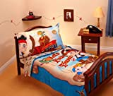 Jake and the Neverland Pirates 4 Piece Microfiber Toddler Bed Set, Baby & Kids Zone