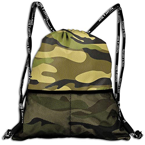 Gym Travel Sport Beam Backpack Army Camouflage 3D