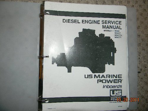 US Marine Power Inboards Diesel Engine Service Manual Models - W04D WO4CT WO4CTA WO4CTI (Hino Engine)