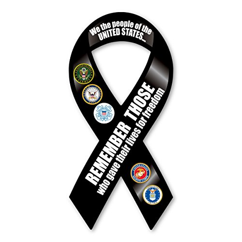 Remember Those Who Gave Their Lives Ribbon Magnet
