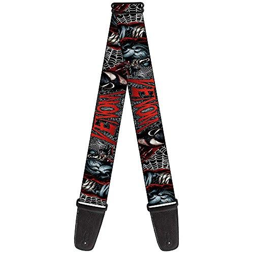 Buckle-Down 2 Inches Wide Marvel Universe Guitar Strap-Venom
