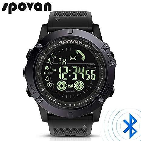 SPOVAN - Reloj Deportivo con Bluetooth para Hombre, Reloj Digital de Moda, 2 años