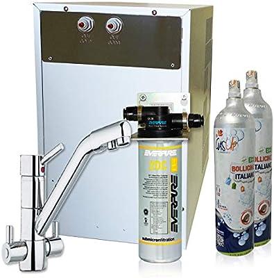 Purificador agua enfriador carbonatador con Everpure de bajo ...