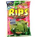 Rips Bite Size Licorice Pieces, Watermelon, 4 oz pack (12 Bags)