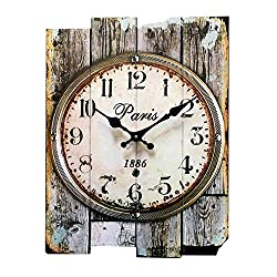 Gooday Antique Wall Clocks 15 Vintage Rustic Country Style Silent Wooden Wall Clocks Creative Home Décor Hanging Clock