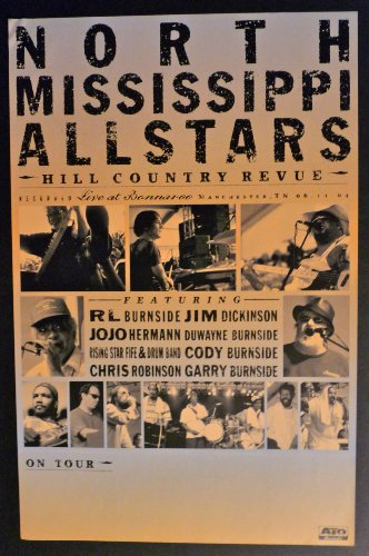 North Mississippi Allstars - Hill Country Revue Live at Bonnaroo - Rare 2-sided Advertising Poster 11x17