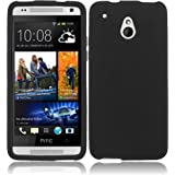 HTC One Mini ( AT&T ) Phone Case Accessory Charming Black Soft Silicone Rubber Skin Cover with Free Gift Aplus Pouch