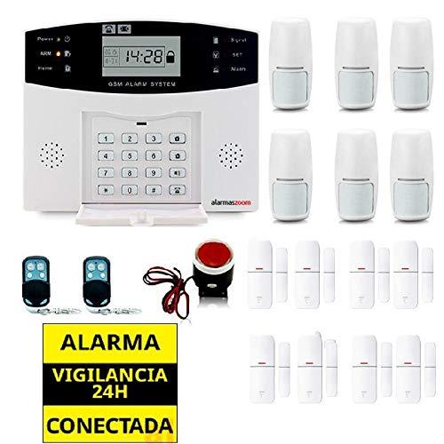 Alarma Hogar AZ028 gsm Castellano sin cuotas para casa. Facil instalación. Asistencia telefónica en Castellano. App con Control Remoto SMS. Facil ...