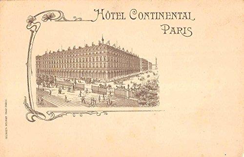 Paris France Hotel Continental Birdseye View Antique Postcard K97773