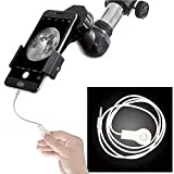 Landove Universal Cell Phone Smartphone Quick Photography Adapter Mount Connector for Telescope Binoculars Monocular Spotting Scope Microscope & and with Cell Mobile Phone (Adapter + Wire Shutter)
