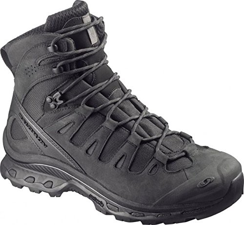 Salomon Men's Forces Quest 4D Forces Tactical Boots, Black/Black, Size 10.5 US