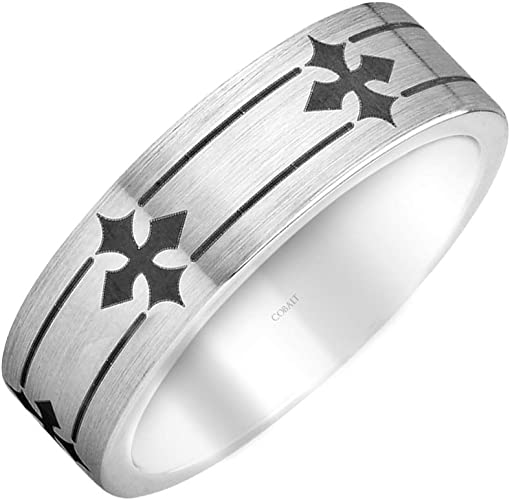 Best Designer Jewelry Cobalt Flat Polished 7mm Band