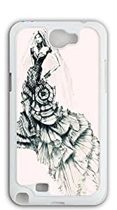 TUTU158600 Hard Plastic and Aluminum Back case for samsung galaxy note2 active - Illustration wrapped chest wedding