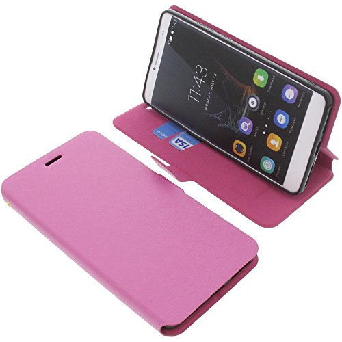 Cover for Bluboo Maya Max book-style pink case