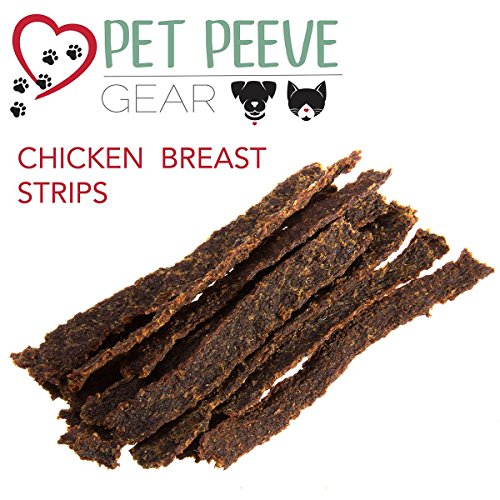 Best Dog Treats, All NATURAL Dog Jerky Treats Made in USA ONLY, 2 Premium Flavors in 1 bag, Chicken & Beef Strips, Healthy Teeth, Grain & Gluten Free, Great Diabetic Treat, Training, Dental Chews by Pet Peeve Gear (Image #4)