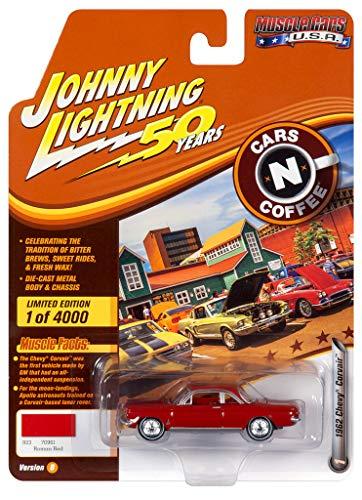 Johnny Lightning JLMC020 Muscle Car 1962 Chevy Corvair VER B Roman Red