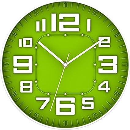 Verde BUVU ZH09756A Orologio da Parete 30 x 30 x 5 cm