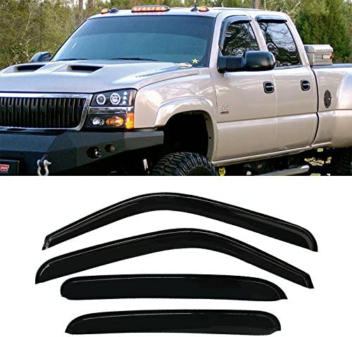 Fits Chevy Suburban 2000-2006 AVS In Channel Window Visors Rain Guards
