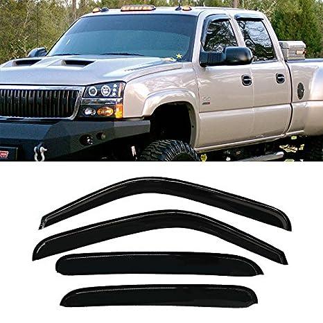 Rain Guards For Trucks >> Violetlisa 4pcs Front Rear Smoke Sun Rain Guard Vent Shade Window Visors For Chevy Suburban Gmc Yukon Xl Avalanche Cadillac Escalade Esv Ext Silverado