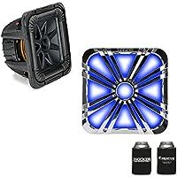Kicker 44L7S104 L7S 10 Dual 4-Ohm Subwoofer & LED Chrome Grill