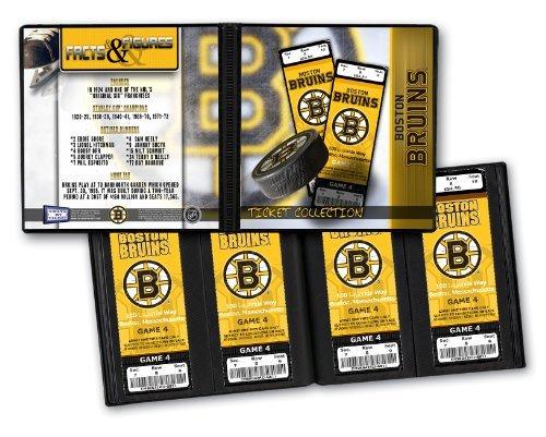 Boston Bruins NHL Ticket Album Holds, 96 Tickets