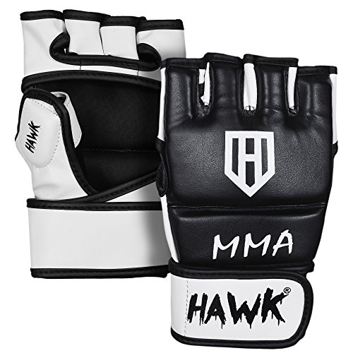 HAWK MMA Gloves Grappling Gloves Martial Arts Sparring Gloves Punching Bag Cage Fight Gloves Mitts UFC Combat Training Gloves – DiZiSports Store