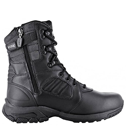 HI-TEC - Magnum Lynx 8.0 Black Side Zip Schuhe Herren Boots Ranger Security Polizei Paintball Neu Negro