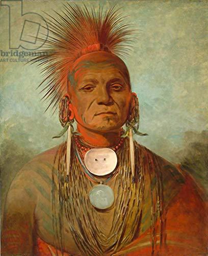 - kunst für alle Art Print/Poster: George CATLIN See-Non-ty-a an Iowa Medicine Man 1844-45
