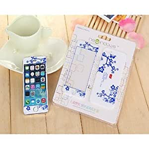 Mini - LR-0831 Mobile Phone Toughened Glass Protective Film,Blue and white porcelain design for iPhone 5 /5S