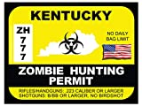 Kentucky Zombie Hunting Permit(Bumper Sticker)