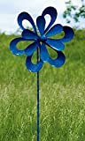 Ancient Graffiti Kinetic Floral Cutout Spinner, Blue, 78.5''H