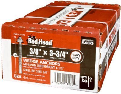 25CT1/2x3-3/4WDG Anchor by Red Head
