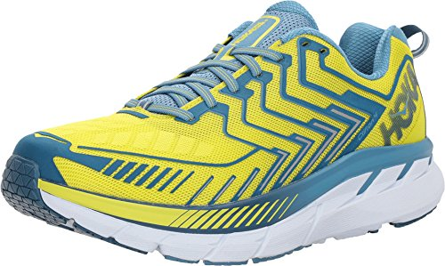 HOKA ONE ONE Men's Clifton 4 Running Shoe Sulphur Spring/Midnight Size 9 M US