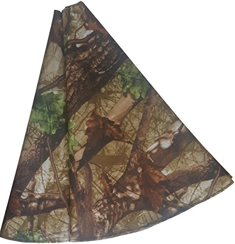 Camouflage Christmas Tree Stand Skirt 46 Inch - Rustic Country Christmas Decoration by Mistletoe Mill -