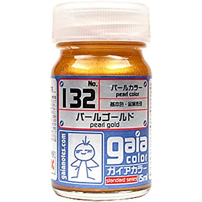 Gaia Color Lacquer 132 Pearl Gold Gundam Paint 15ml: Toys & Games