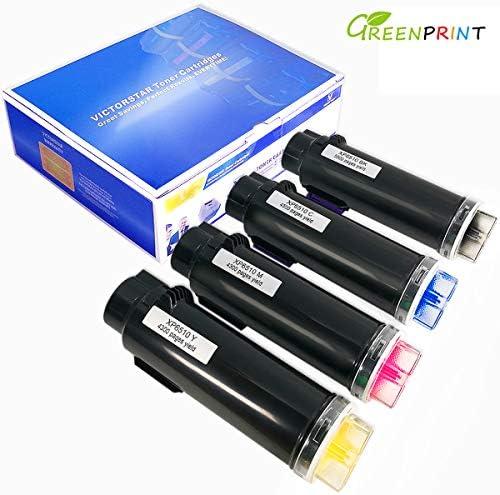 4 Farben Kompatible Tonerkartuschen für Xerox Phaser 6510 6510V/N 6510V/DN 6510V/DNI, WorkCentre 6515 6515V/N 6515V/DN 6515V/DNI GREENPRINT Höchste Ausbeute 5500 Seiten für BK & 4300 Seiten für C M Y