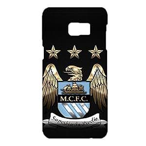 3D Manchester Logo Phone Case for for Samsung Galaxy S6 Edge Plus Attractive Design Premier League 3D Manchester City FC Logo Cover Skin Fit Samsung Galaxy S6 Edge Plus