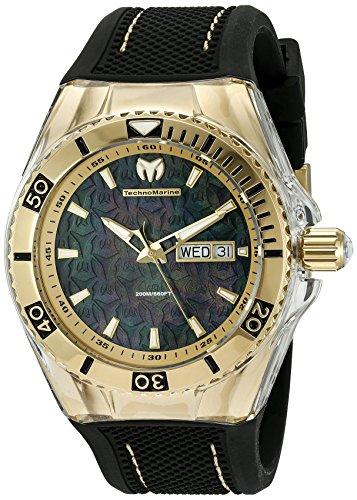 Technomarine Men's TM-115213 Cruise Monogram Analog Display Swiss Quartz Black Watch