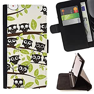 Jordan Colourful Shop - forest trees pattern drawing cute For HTC One M7 - Leather Case Absorci???¡¯???€????€?????????&Ati