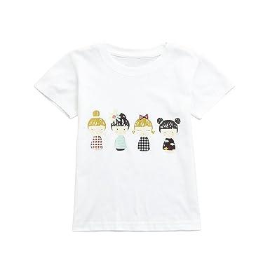 5b287821bf90d Vêtements Fille Ete Oyedens Enfants Filles T-Shirts Fille 1 à 12 Ans Hauts  Manches