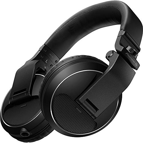 PIONEER HDJ-X5-K Professional DJ Headphone, Black, (HDJX5K)