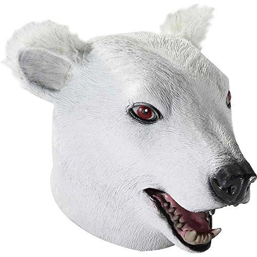 Deluxe Latex Polar Bear Mask - Polar Bear Halloween Costume