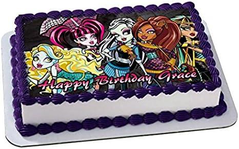 Awesome Amazon Com Monster High Quarter Sheet Edible Cake Topper Personalised Birthday Cards Beptaeletsinfo