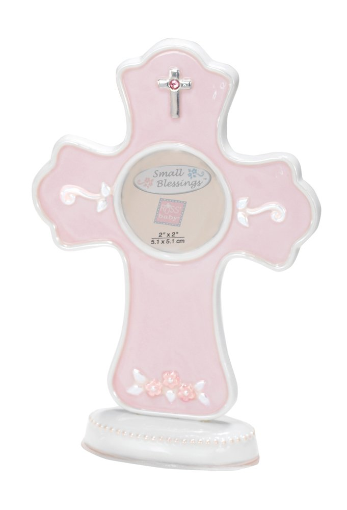 Russ Berrie Cross Photo Frame, Pink (Discontinued by Manufacturer) by Russ Berrie