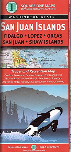 San Juan Islands (WA State) - Map Square Washington