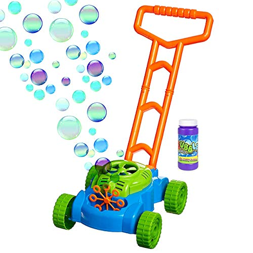 Tiki Bubble Machine (Toysery Electronic Bubble Mower | Comes with Bubble Refill Bottle | Durable Plastic | Designed with Fun Colors | Pleasure for Kids | Best for Indoor or Outdoor Play |)