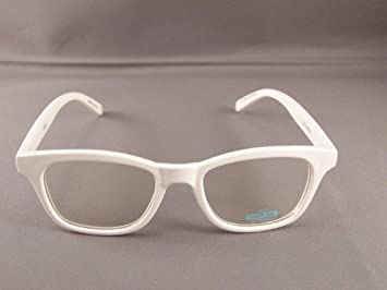 dfe16b762b Amazon.com  White frame Clear lens sunglasses womens ladies 80s ...
